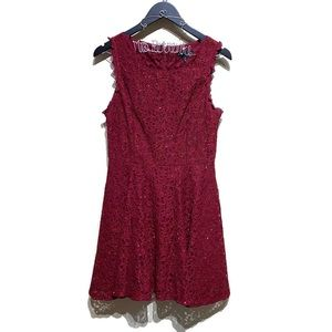 City Triangles Ruby Lace Sparkle Dress